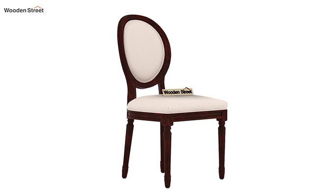 Clark 4 Seater Round Dining Set (Mahogany Finish)-7