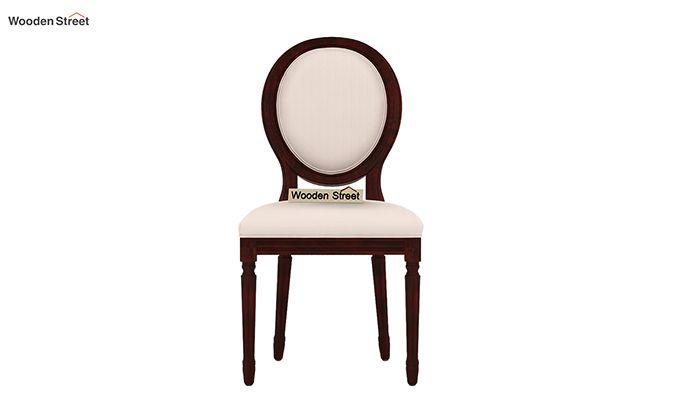 Clark 4 Seater Round Dining Set (Mahogany Finish)-8