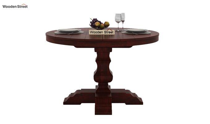 Clark 4 Seater Round Dining Set (Mahogany Finish)-4