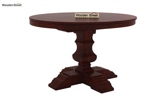 Clark 4 Seater Round Dining Set (Mahogany Finish)-6
