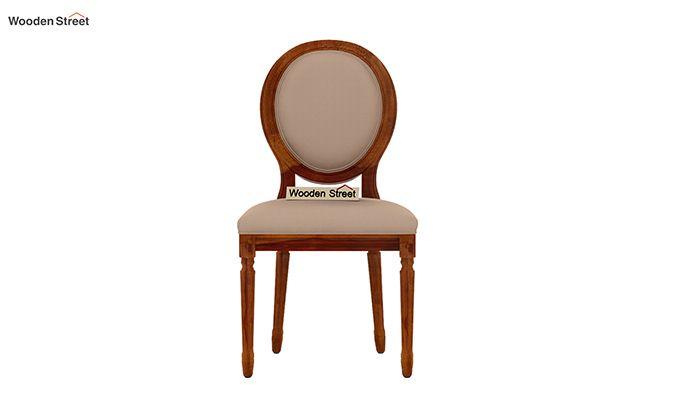 Clark 4 Seater Round Dining Set (Honey Finish)-9