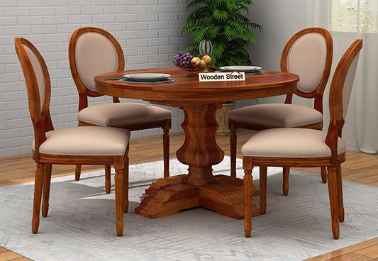 4 seater round dining table online india