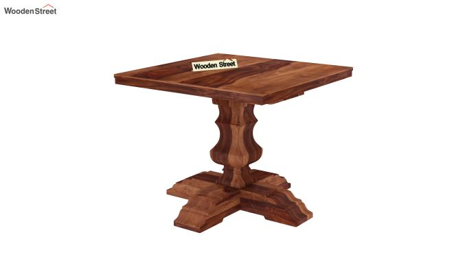 Clark 4 Seater Square Dining Set (Honey Finish)-6