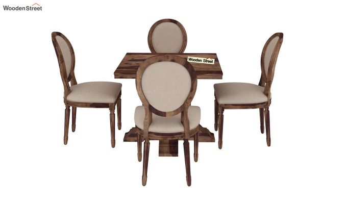 Clark 4 Seater Square Dining Set (Teak Finish)-4