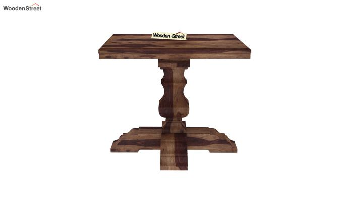 Clark 4 Seater Square Dining Set (Teak Finish)-7