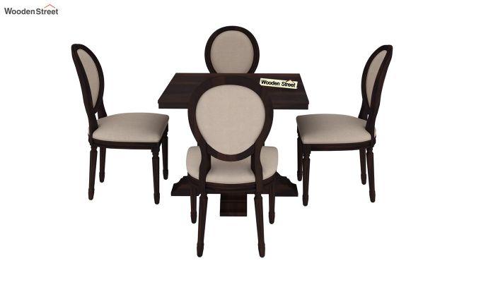Clark 4 Seater Square Dining Set (Walnut Finish)-4