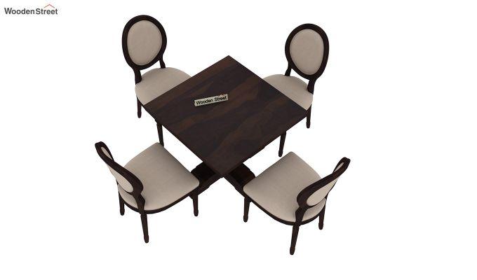 Clark 4 Seater Square Dining Set (Walnut Finish)-5