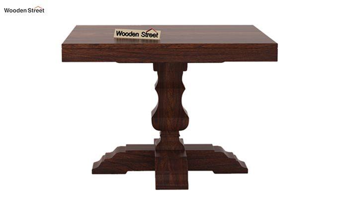 Clark 4 Seater Square Dining Set (Walnut Finish)-6