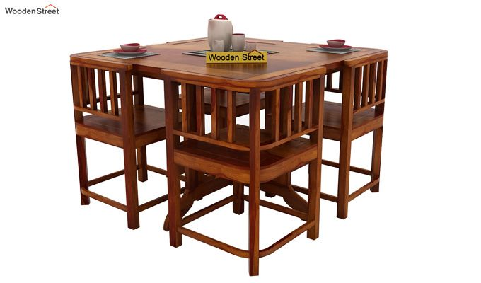 Cohoon 4 Seater Dining Set (Honey Finish)-2