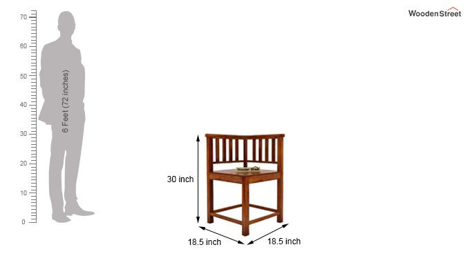 Cohoon 4 Seater Dining Set (Honey Finish)-8