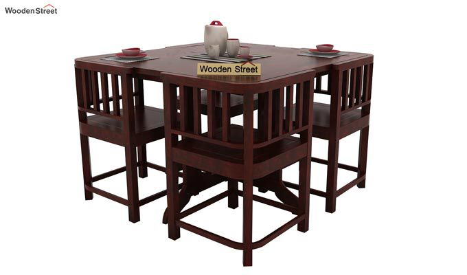 Cohoon 4 Seater Dining Set (Mahogany Finish)-1