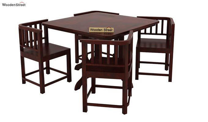 Cohoon 4 Seater Dining Set (Mahogany Finish)-2