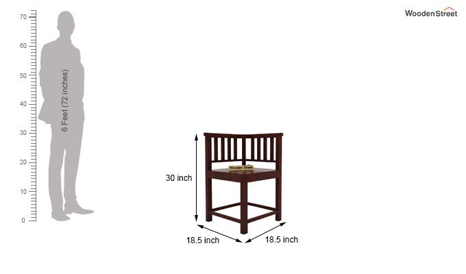 Cohoon 4 Seater Dining Set (Mahogany Finish)-7