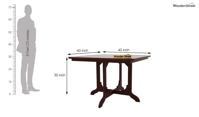 Cohoon 4 Seater Dining Set (Mahogany Finish)-8