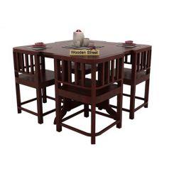 Cohoon 4 Seater Dining Set (Mahogany Finish)