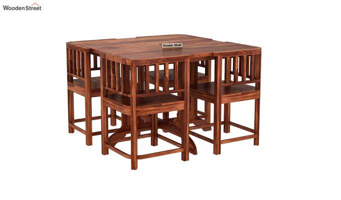 Cohoon 4 Seater Dining Set (Honey Finish)-2