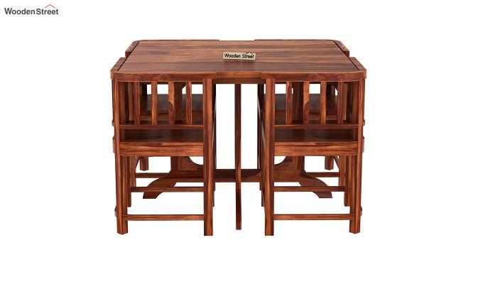 Cohoon 4 Seater Dining Set (Honey Finish)-3
