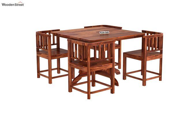 Cohoon 4 Seater Dining Set (Honey Finish)-4