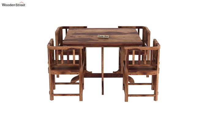 Cohoon 4 Seater Dining Set (Teak Finish)-5