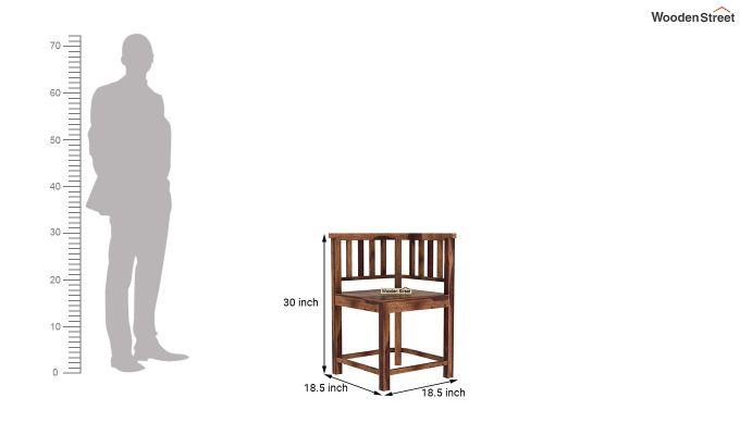 Cohoon 4 Seater Dining Set (Teak Finish)-11