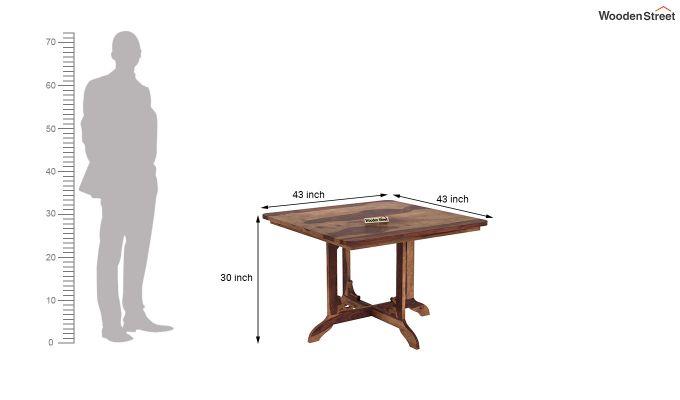 Cohoon 4 Seater Dining Set (Teak Finish)-10