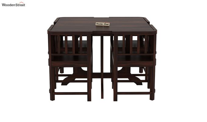 Cohoon 4 Seater Dining Set (Walnut Finish)-3