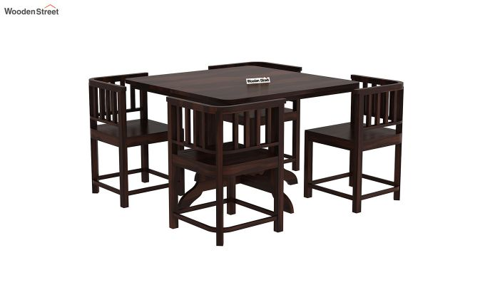 Cohoon 4 Seater Dining Set (Walnut Finish)-4