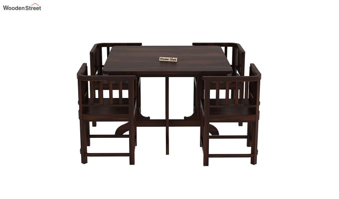 Cohoon 4 Seater Dining Set (Walnut Finish)-5