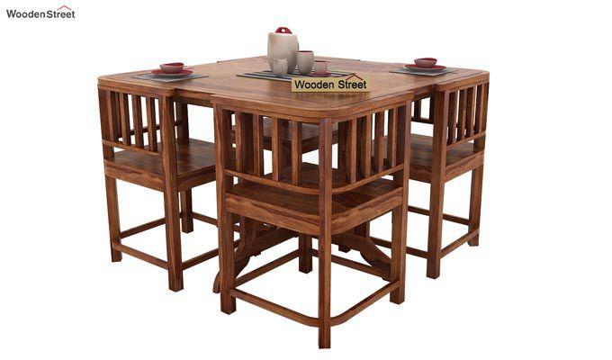 Cohoon 4 Seater Dining Set (Teak Finish)-1
