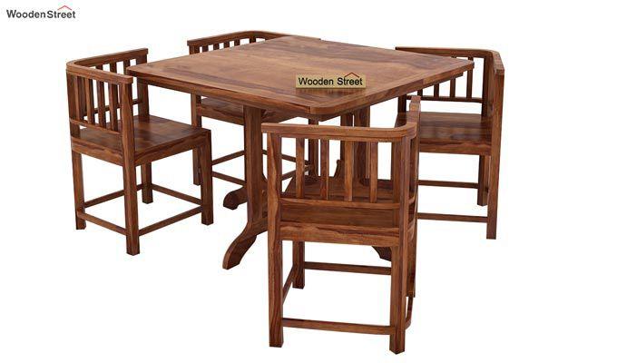 Cohoon 4 Seater Dining Set (Teak Finish)-2