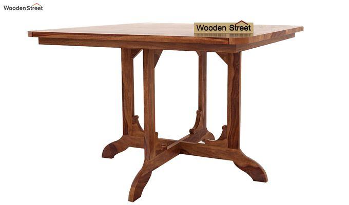 Cohoon 4 Seater Dining Set (Teak Finish)-3