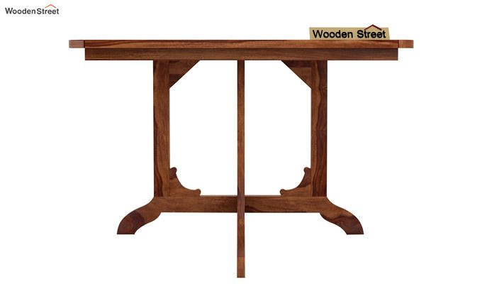 Cohoon 4 Seater Dining Set (Teak Finish)-4
