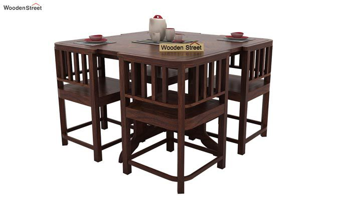 Cohoon 4 Seater Dining Set (Walnut Finish)-1