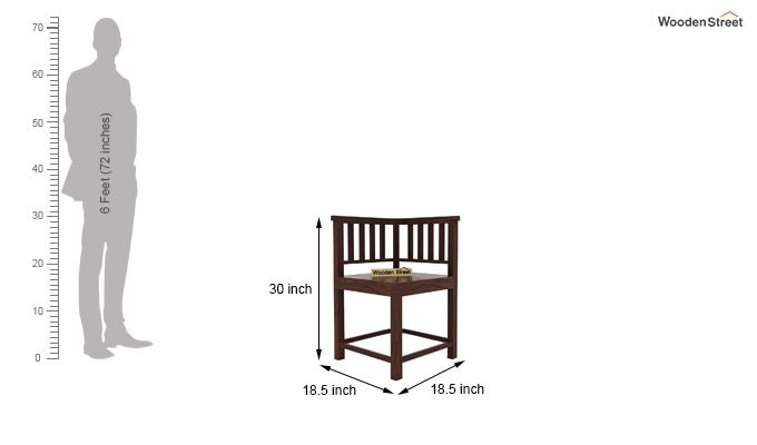 Cohoon 4 Seater Dining Set (Walnut Finish)-7