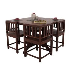 Cohoon 4 Seater Dining Set (Walnut Finish)