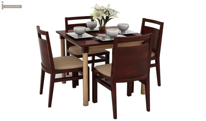 Adriel 4 Seater Dining Set (Mahogany Finish)-2