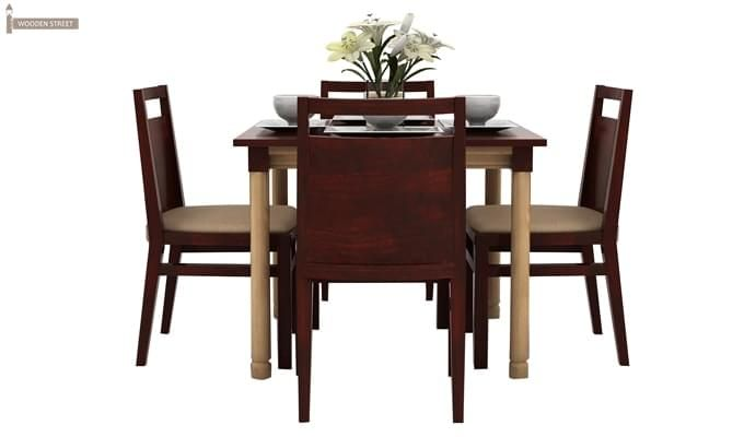 Adriel 4 Seater Dining Set (Mahogany Finish)-3