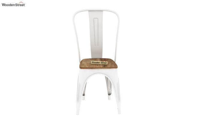 Cora Metal 4 Seater Dining Set (Natural Finish)-5