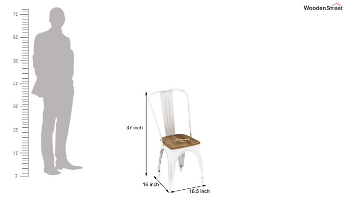 Cora Metal 4 Seater Dining Set (Natural Finish)-8
