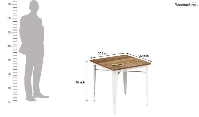 Cora Metal 4 Seater Dining Set (Natural Finish)-9