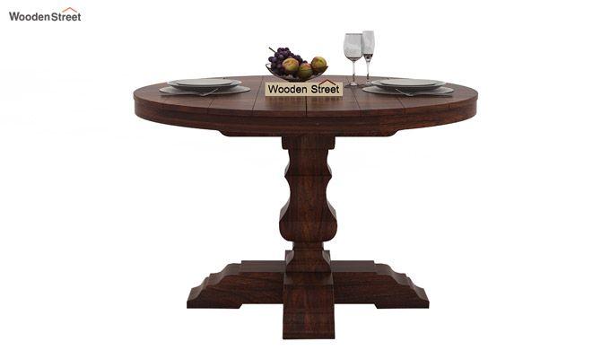 Darren 4 Seater Round Dining Set (Walnut Finish)-5