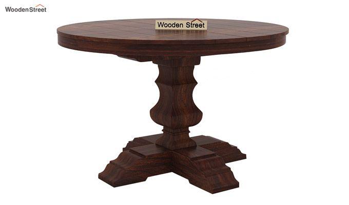 Darren 4 Seater Round Dining Set (Walnut Finish)-6