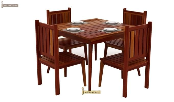 Dawson 4 Seater Dining Set (Honey Finish)-2