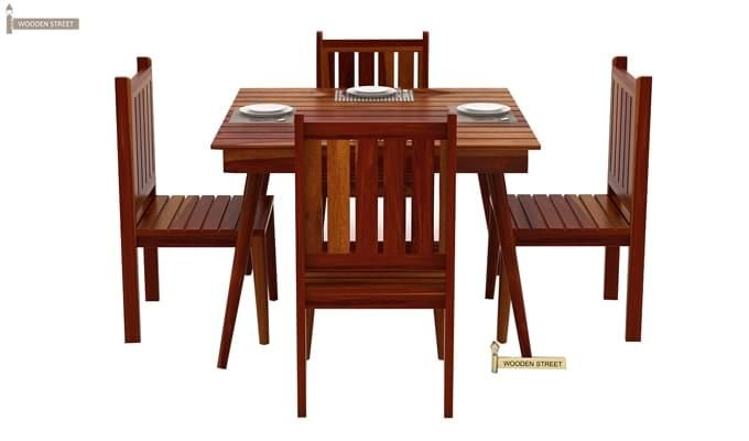 Dawson 4 Seater Dining Set (Honey Finish)-5