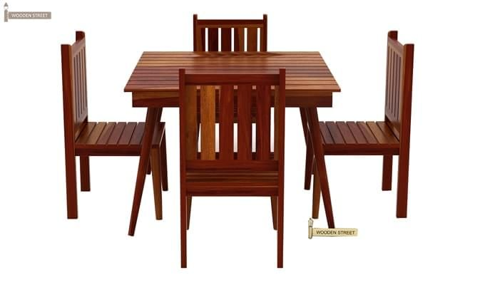 Dawson 4 Seater Dining Set (Honey Finish)-4