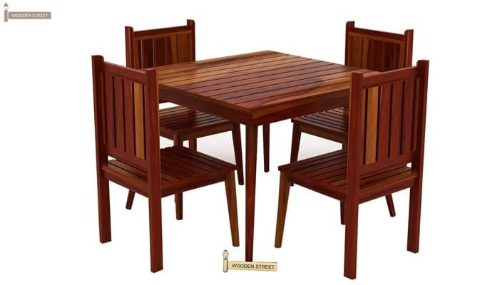 Dawson 4 Seater Dining Set (Honey Finish)-3