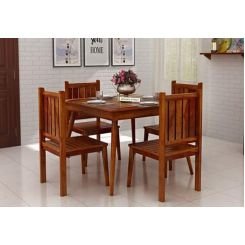 Dawson 4 Seater Dining Set (Honey Finish)
