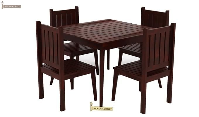 Dawson 4 Seater Dining Set (Mahogany Finish)-1