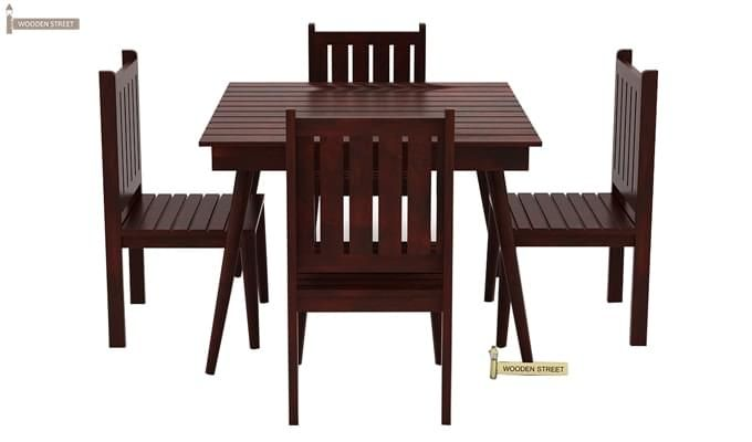 Dawson 4 Seater Dining Set (Mahogany Finish)-2
