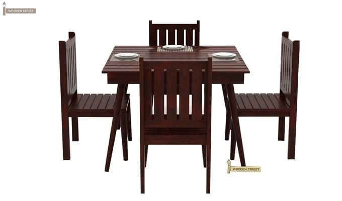 Dawson 4 Seater Dining Set (Mahogany Finish)-3